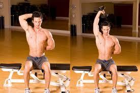 triceps oefeningen zonder gewichten